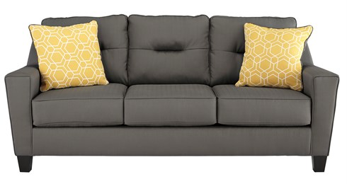 Nuvella Upholstered Sofa Gray