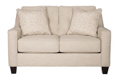 Nuvella Upholstered Loveseat Sand