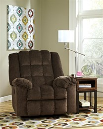 Ludden Upholstered Power Rocker Recliner Cocoa