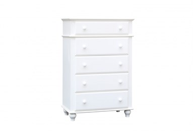 Abacoa Five Drawer Chest White