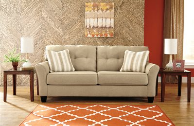 Laryn Queen Upholstered Sofa Sleeper Khaki