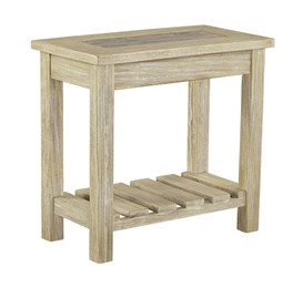 Veldar Chair Side End Table Whitewash