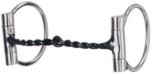 Weaver Snaffle Offset Dee Twisted Wire Sweet Iron Mouth