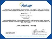 Nadcap Nondestructive Certificate