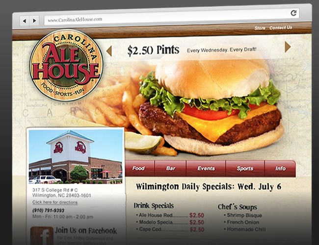 Website Design- Carolina Ale House