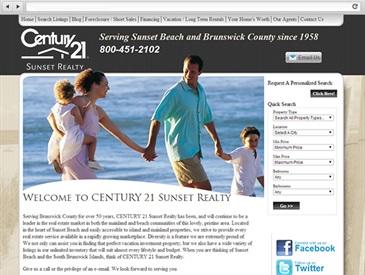 Sunset Realty Real Estate Web Design