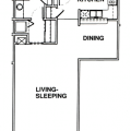 Studio apartment at Windsor Point Retirement Community