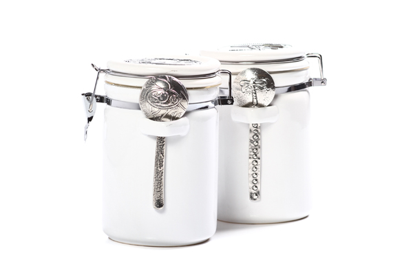 Carolina Coffee White Porcelain Canister - Half Pound