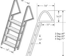 DOCK LADDER GALV. 4 STEP