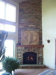 corner fireplace rework - complete