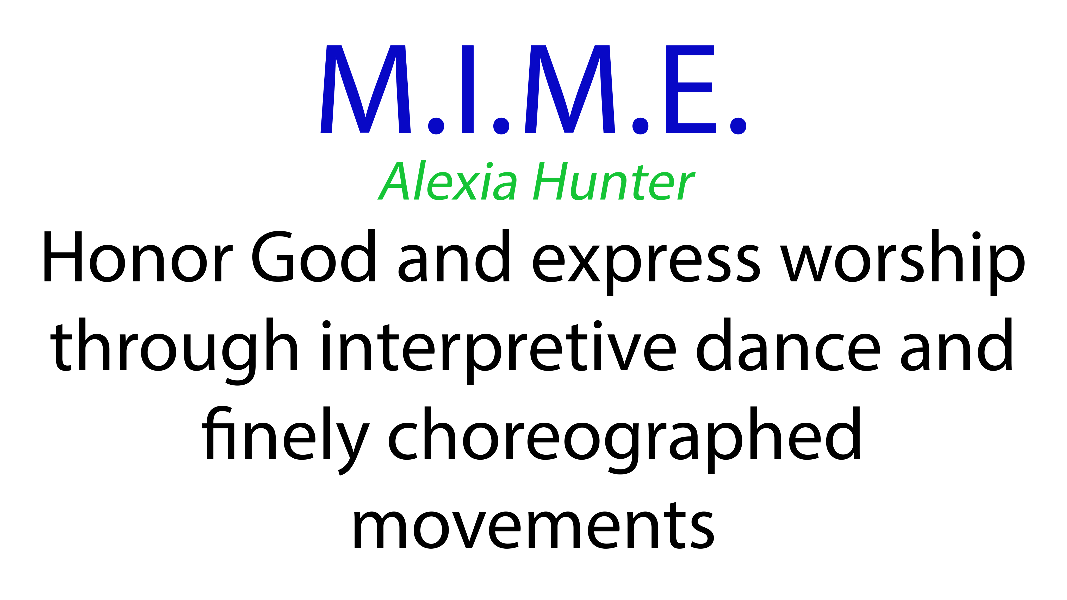 M.I.M.E.