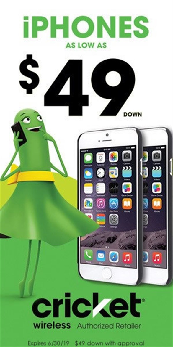Cricket Wireless iPhones for as low as $49 down