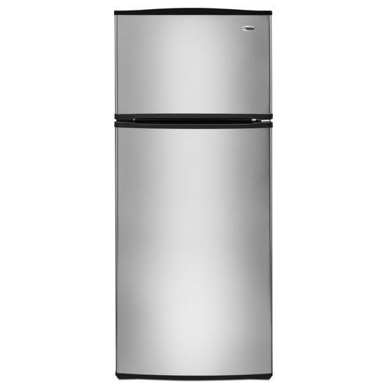 18 cu. ft. Top-Freezer Refrigerator with Optional Ice Maker - stainless steel