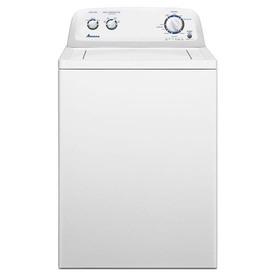 3.4 cu. ft. Top Load Washer with 8 Wash Cycles and 3 Load Sizes - white