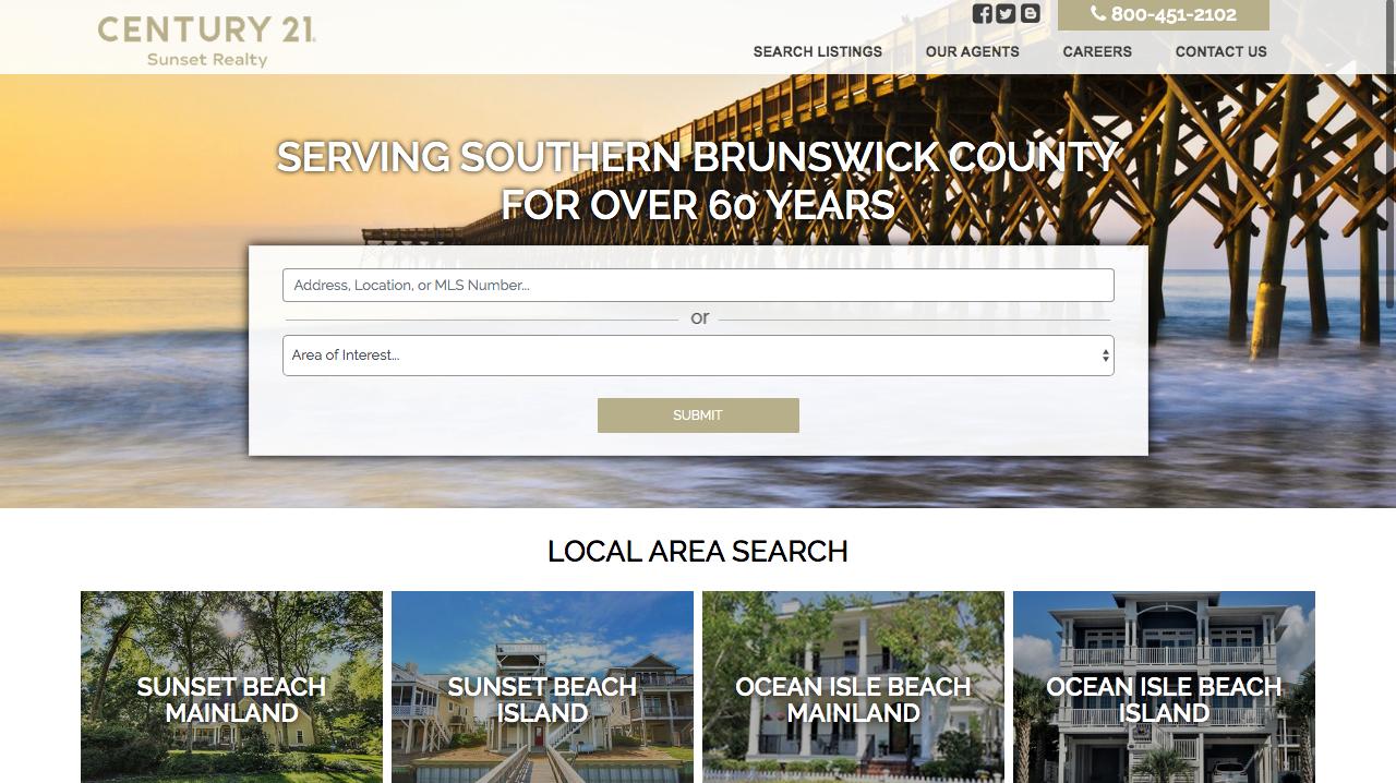Sunset Real Estate Web Design