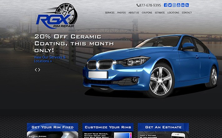 RGX Rim Repair Website Redesign - Website Builders in Wilmington NC - Web Designer - Cape Fear NC - Wilmington NC Web Developers - BlueTone Media -