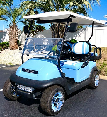 2020 Club Car 4 Passenger Custom Build with Wheel Inserts
