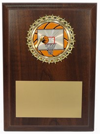 PBM 5 x 7 Basketball Plaque