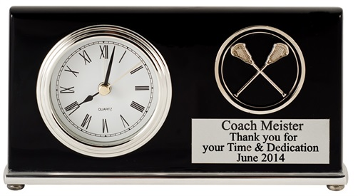T-361 Black Piano Finish Desk Clock