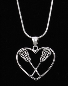 HP-1 Crossed Stick Heart Charm