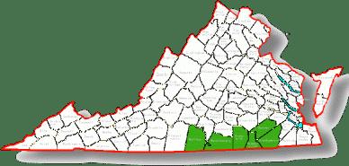 Virginia service area
