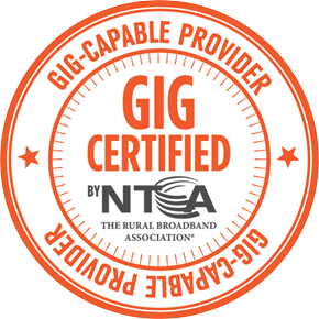 Gig Certified by the NTCA - Gigabit Capable Provider