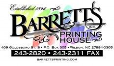 Barrett's Printing House, Inc. Logo