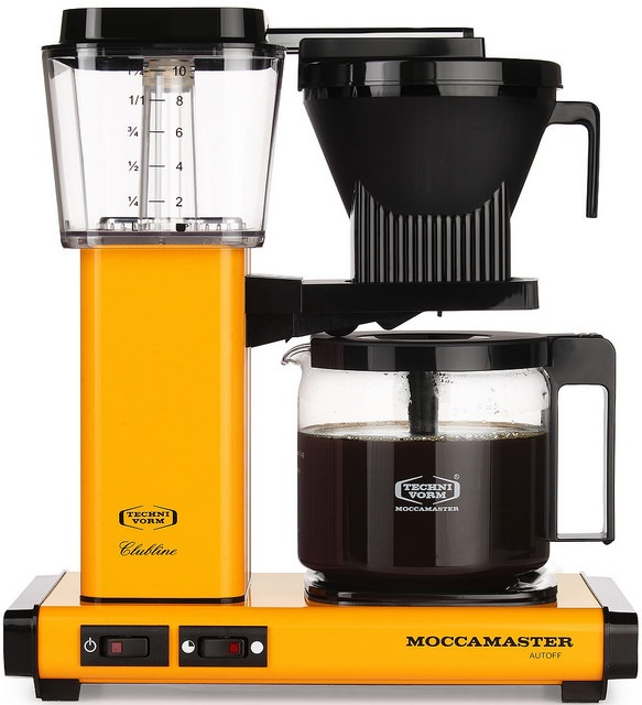 Carolina Coffee  A Technivorm Moccamaster KBG Automatic Drip Stop Coffee Maker with Glass Carafe - Yellow Pepper