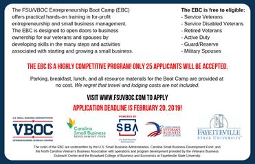Entrepreneur Boot Camp Registration - Veterans Business