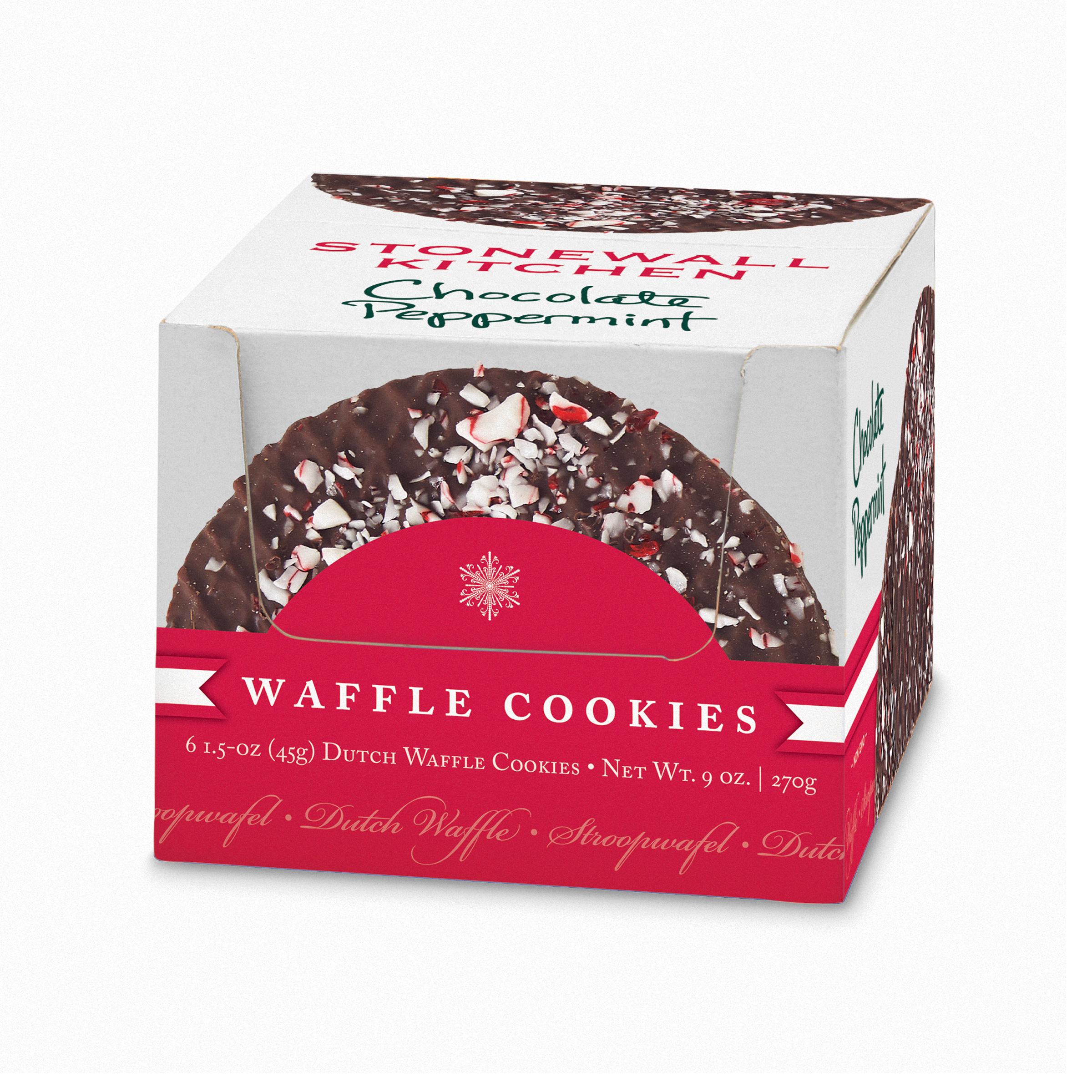 Carolina Coffee Chocolate Peppermint Waffle Cookies