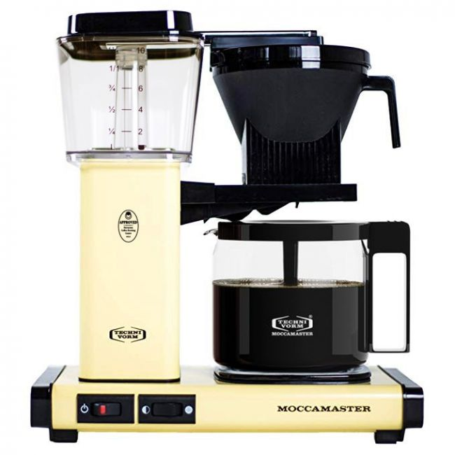 Carolina Coffee Technivorm Moccamaster KBG Automatic Drip Stop Coffee Maker With Glass Carafe - Butter Yellow