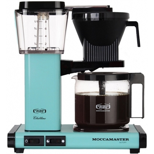 Carolina Coffee Technivorm Moccamaster KGB Automatic Drip Stop Coffee Maker With Glass Carafe - Turquoise