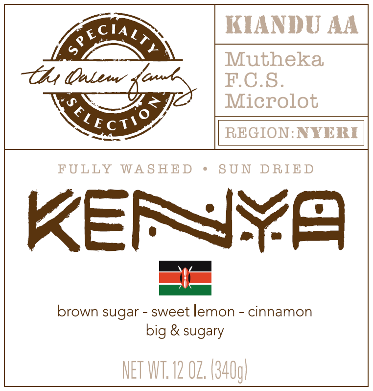 Carolina Coffee Kenya Kiandu AA