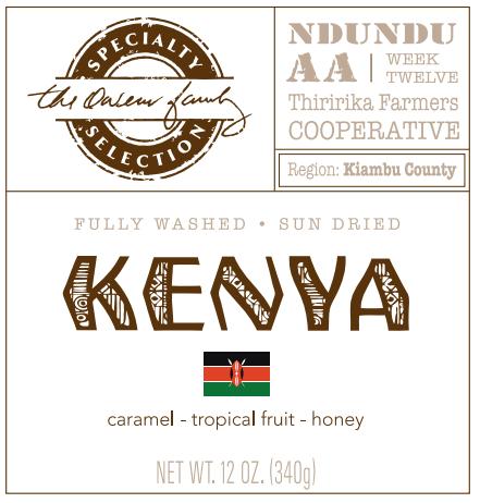 Carolina Coffee Kenya Ndundu AA