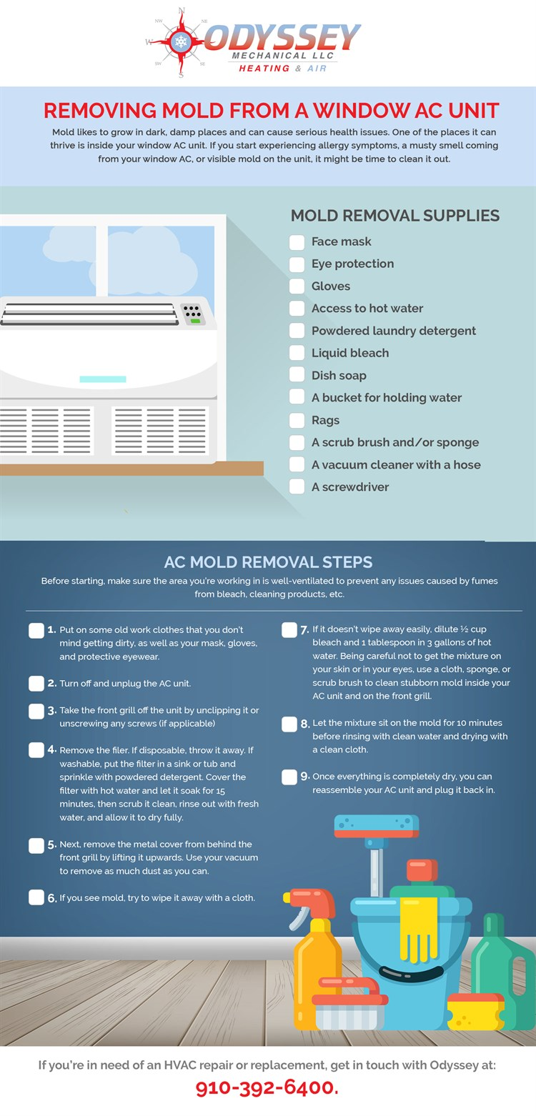 How to remove mold from AC